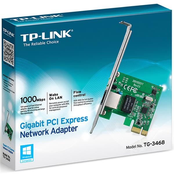 Placa de Red 10/100/1000 Tp-Link Pci-E TG-3468