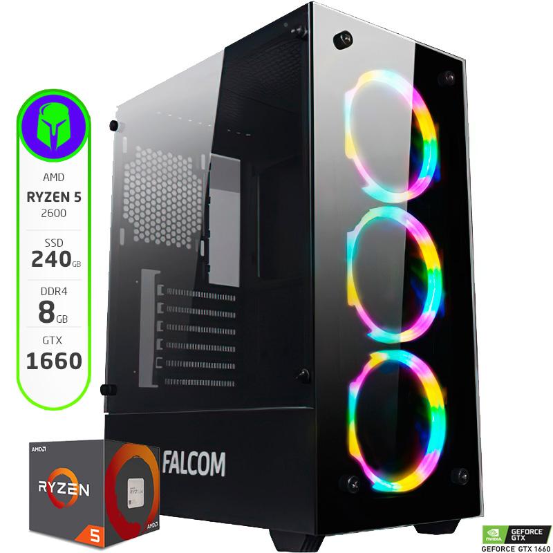 PC ARMADA AMD RYZEN 5 2600 - 8GB - 240GB SSD - GTX 1660 - WIFI
