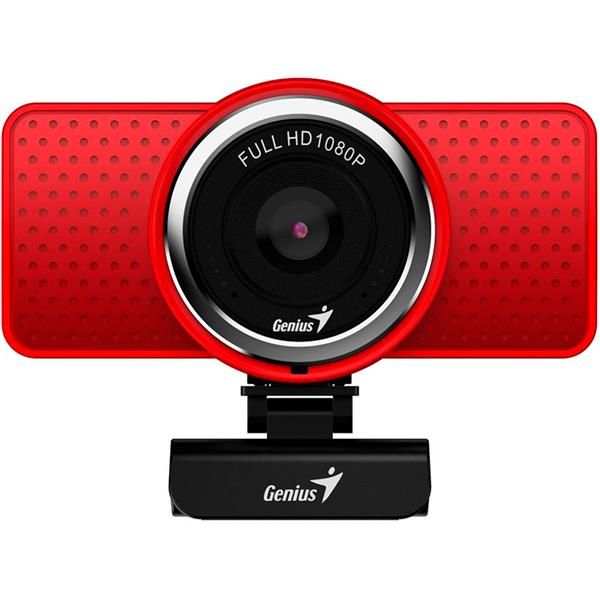 Webcam Genius ECAM 8000 RED 1080P USB