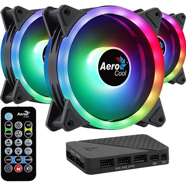 Fan Aerocool Duo 12 Pro ARGB 120mm Kit x3