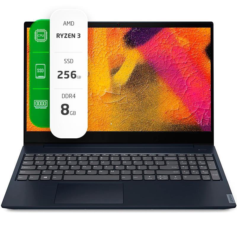 "Notebook Lenovo IdeaPad S340 15,6"" AMD Ryzen 3 3200U 8GB Ram 256GB SSD W10H"