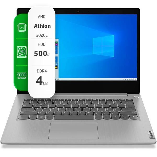 """Notebook Lenovo IdeaPad 3 14"""" AMD Athlon 3020E 4GB Ram 500GB HDD W10H"""