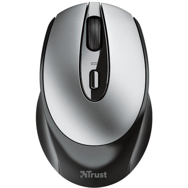 Mouse Inalambrico Recargable Trust Zaya Black