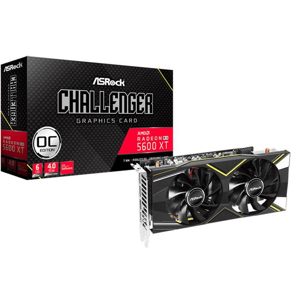 Placa de Video Asrock AMD Radeon Rx 5600 XT CHALLENGER D OC 6GB GDDR6