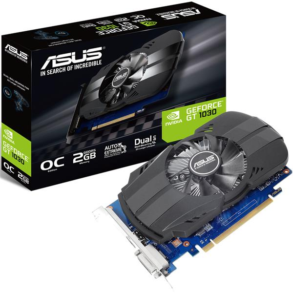 Placa de Video Asus Nvidia Geforce GT 1030 Phoenix 2GB DDR5 OC