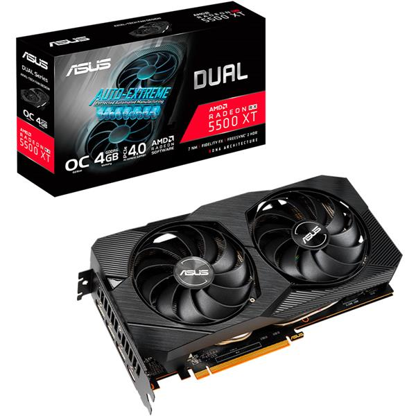 Placa de Video Asus RX 5500 XT Dual EVO OC 4GB