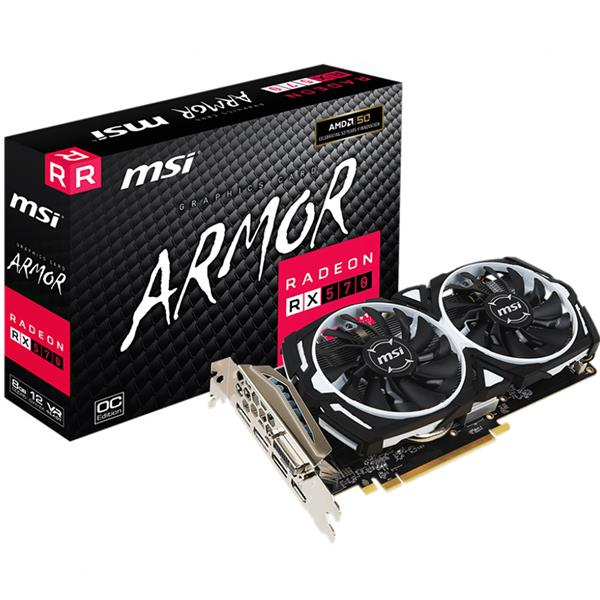 PLACA DE VIDEO MSI RX 570 ARMOR OC 8GB GDDR5