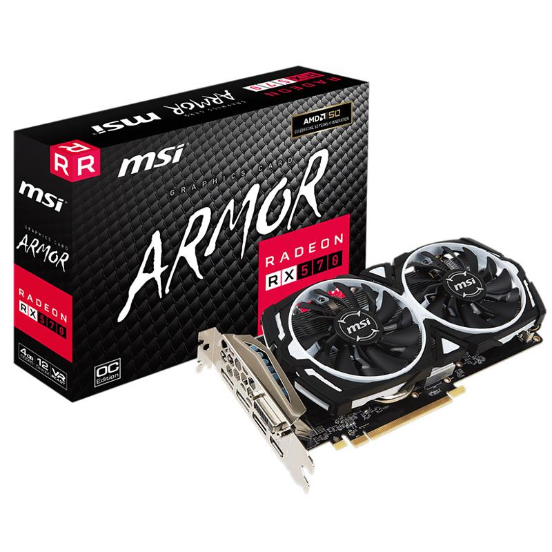 Placa de Video MSI Rx 570 Armor OC 4GB GDDR5