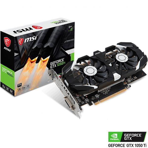 Placa de Video MSI Nvidia Geforce GTX 1050 Ti OC 4GB GDDR5