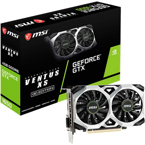 Placa de Video MSI Nvidia Geforce GTX 1650 D6 Ventus Xs OC 4GB GDDR6
