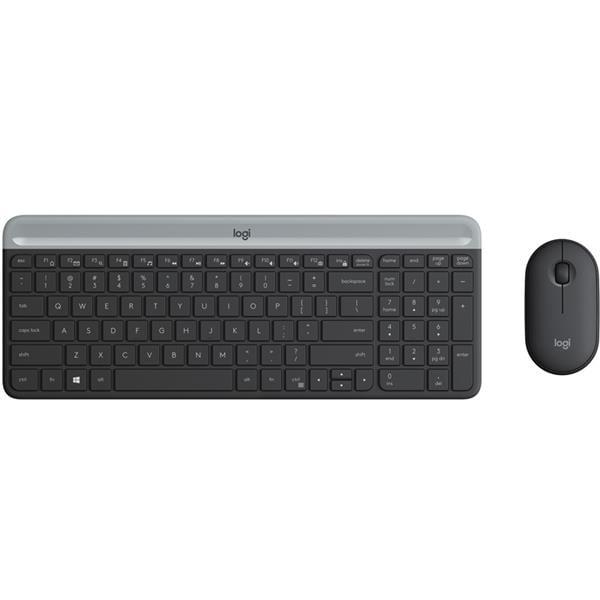 Teclado/Mouse Logitech MK470 Slim Black