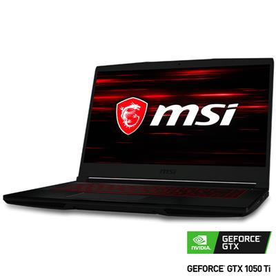 Notebook GAMER MSI GF63 THIN 9RCX I5 9300H/8Gb DDR4/GTX1050 Ti 4Gb/SSD 512Gb NVME/15.6 FHD