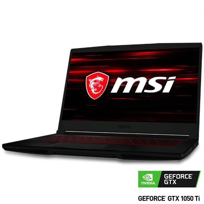 Notebook GAMER MSI GF63 THIN 9RCX I5 9300H/8Gb DDR4/GTX1050 Ti 4Gb/SSD 512G