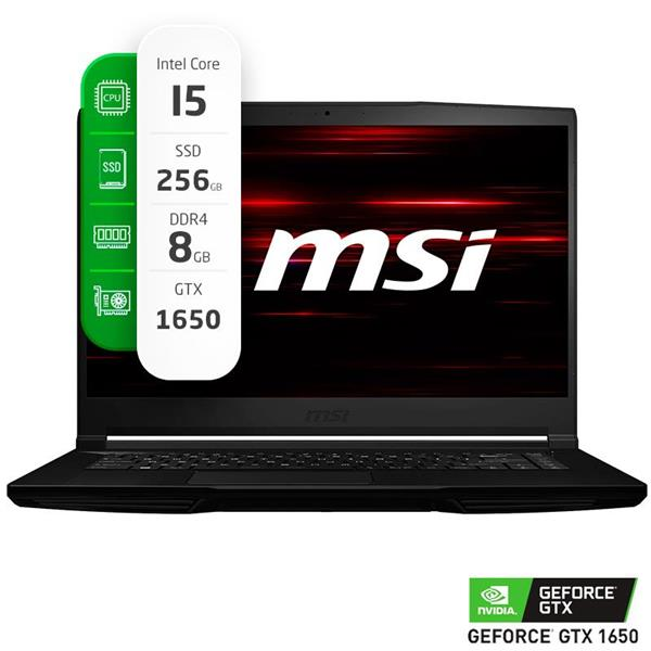 "Notebook Gamer MSI GF63 THIN 9SCXR 15.6"" Intel I5 9300H 8GB Ram 256GB SSD GTX 1650 Max Q W10 HOME"