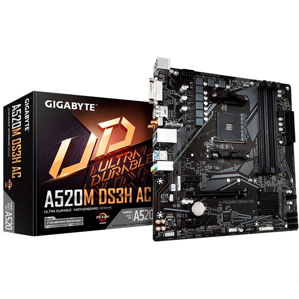 Motherboard Gigabyte A520M DS3H AC AM4