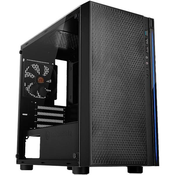 Gabinete Thermaltake Versa H18 Tempered Glass Black
