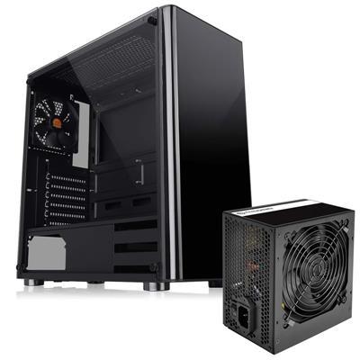 Gabinete Thermal TT V200 TG + Fuente 600W TT C/Fan