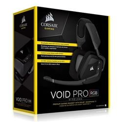 Auricular Corsair  Void Pro Rgb 7.1 Black Wireless