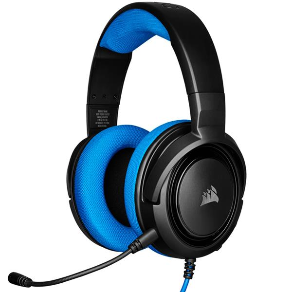 AURICULAR CORSAIR HS35 STEREO GAMING BLUE PC/PS4/XBOX
