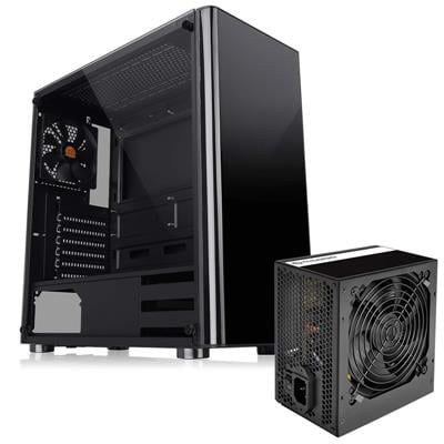 Gabinete Thermal TT V200 TG + Fuente 500W LitePowe