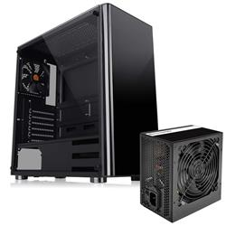 Gabinete Thermal TT V200 TG + Fuente 600W LitePower C/Fan