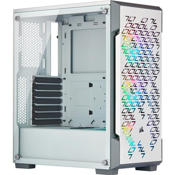 Gabinete Corsair 220T RGB Tempered Glass Mid-Tower Smart ICUE White