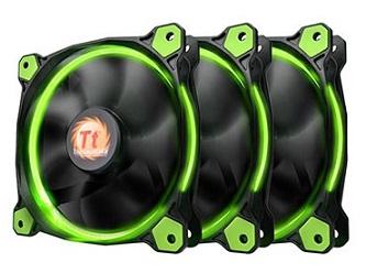 Thermaltake Fan x 3 2.01 120 Riing Green