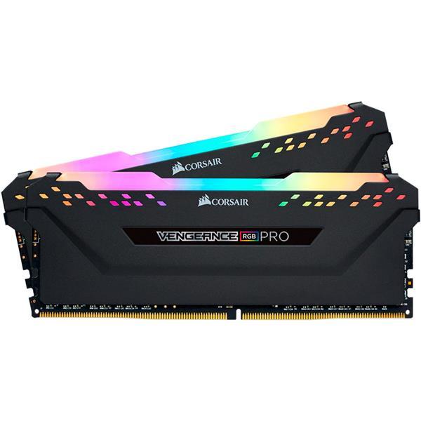 MEMORIA RAM CORSAIR VENGEANCE RGB PRO BLACK 32GB (2X16GB) 3000 MHZ DDR4