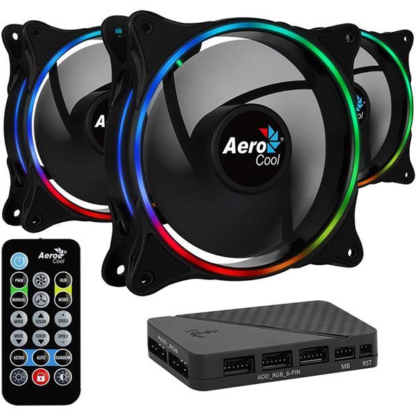 Fan Aerocool ECLIPSE 12 Pro ARGB 120mm Kit x3
