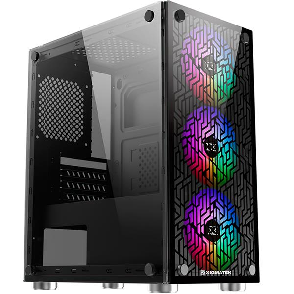 Gabinete Xigmatek NYX 3F Rainbow Fix Fan Version