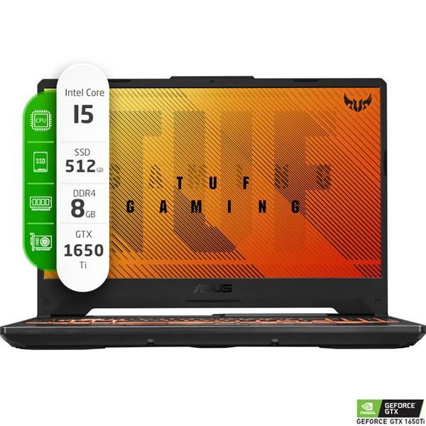 "Notebook Gamer ASUS TUF FX506LI 15.6"" Intel I5 10300H 8GB Ram 512GB SSD GTX 1650 TI FREEDOS"