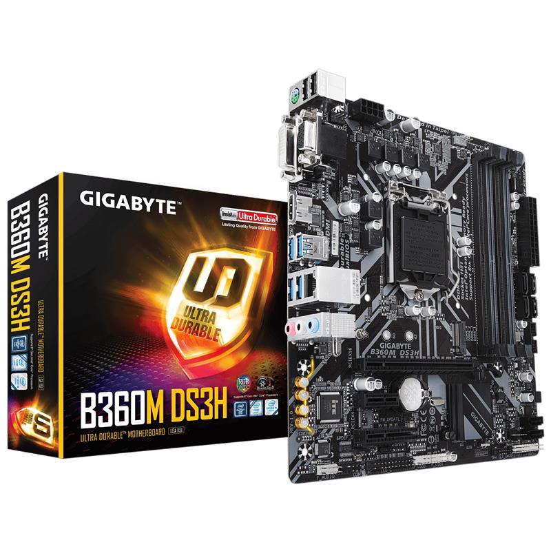 Mother Gigabyte (1151) B360M DS3H DDR4