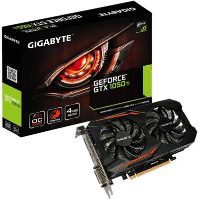 Placa de Video Gigabyte Nvidia Geforce GTX 1050 Ti OC 4GB GDDR5