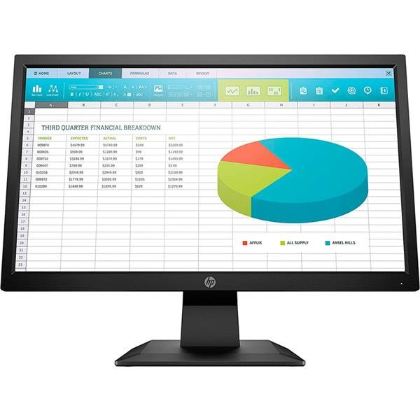 "Monitor LED 20"" HP P204"