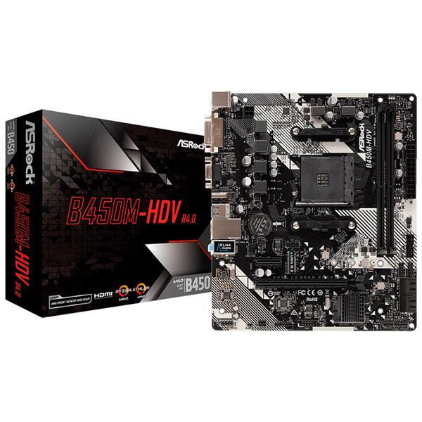 MOTHERBOARD ASROCK B450M HDV R4.0 AM4