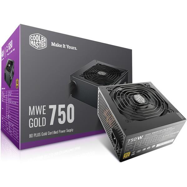 Fuente 750W Cooler Master MWE 80 PLUS Gold