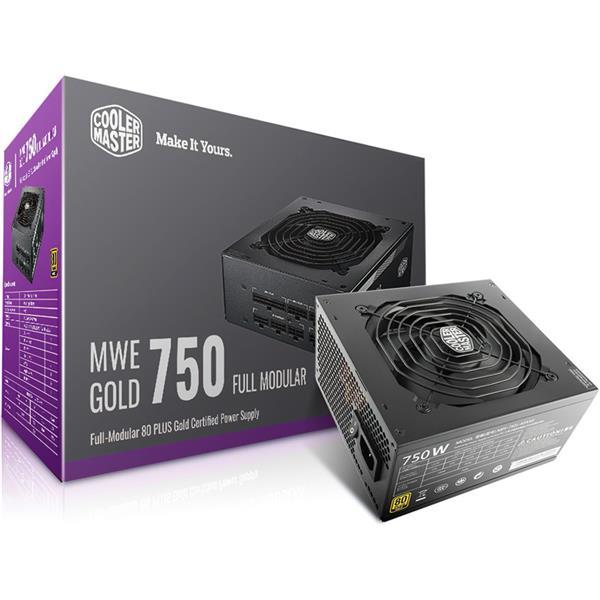 Fuente 750W Cooler Master MWE 80 PLUS Gold Full Modular