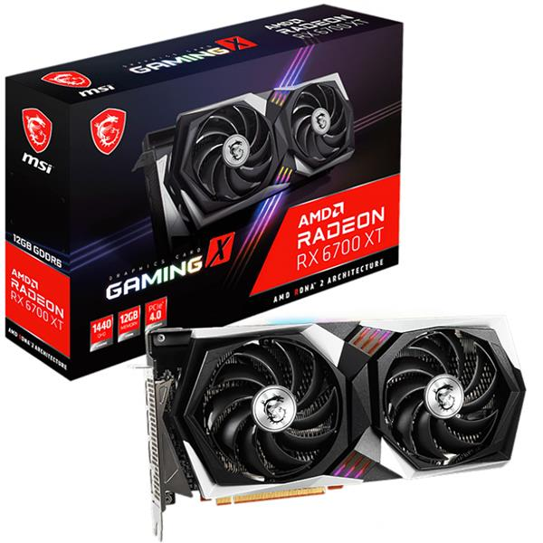 PREVENTA 28 DE ABRIL - Placa de Video AMD RADEON MSI Gaming X RX 6700 XT 12GB GDDR6