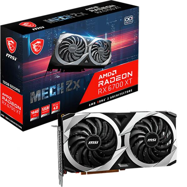 PREVENTA 28 DE ABRIL - Placa de Video AMD RADEON MSI MECH 2X RX 6700 XT 12GB GDDR6
