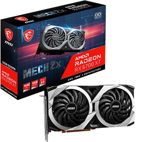 Placa de Video AMD RADEON MSI MECH 2X RX 6700 XT 12GB GDDR6