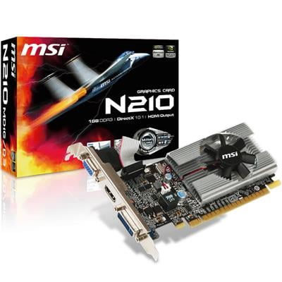 Placa de Video MSI GT 210 LP 1GB Ddr3