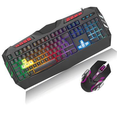 Kit Teclado y Mouse NAXIDO LED RGB