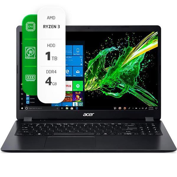 """Notebook Acer Aspire 3 A315-23-R326 15.6"""" AMD Ryzen 3 3250U 4GB Ram 1TB HDD W10H"""