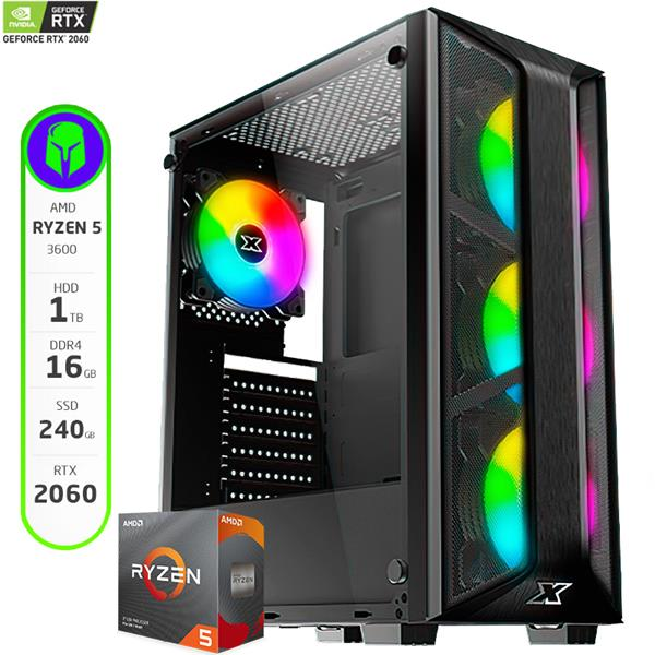 PC Gamer Armada AMD Ryzen 5 3600 - B450 - 16GB - 120GB SSD - 1TB HDD - GTX 1660 Ti
