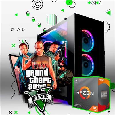 PC Armada AMD Ryzen 5 2600 - B450 - 8GB - GTX 1050Ti - 240GB SSD
