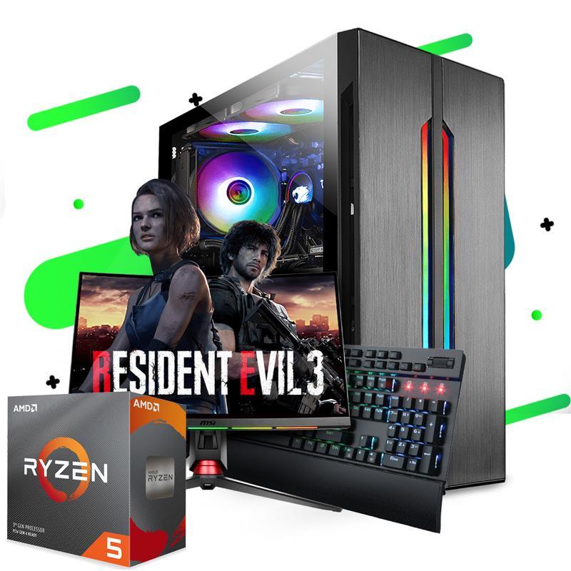 PC Armada | AMD Ryzen 5 2600 - B450 - 16GB - RX 5500 XT - 240GB SSD - 1TB