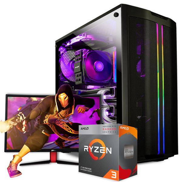 PC GAMER ARMADA AMD RYZEN 3 2200G - A320 - 8GB - 120GB SSD