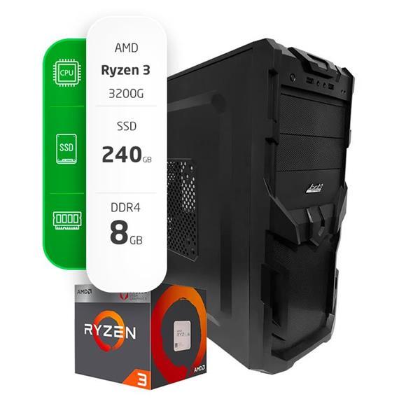 PC GAMER ARMADA AMD RYZEN 3 3200G - A320 - 8GB - 240GB SSD