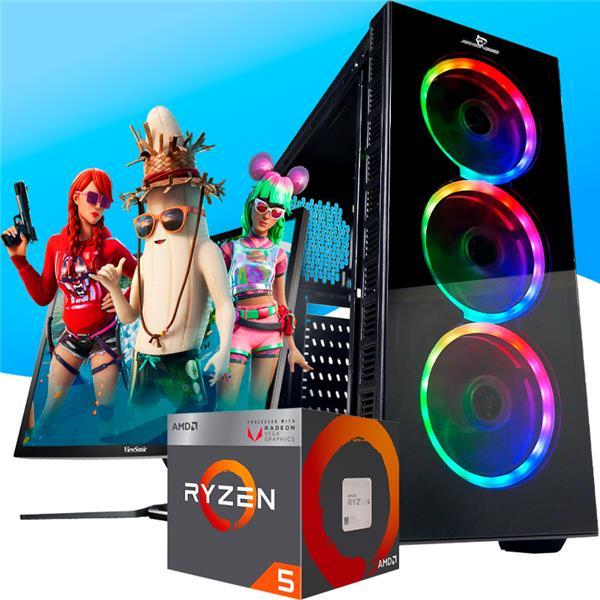 PC Gamer Armada AMD Ryzen 5 2400G - A320 - 8GB - 240GB SSD