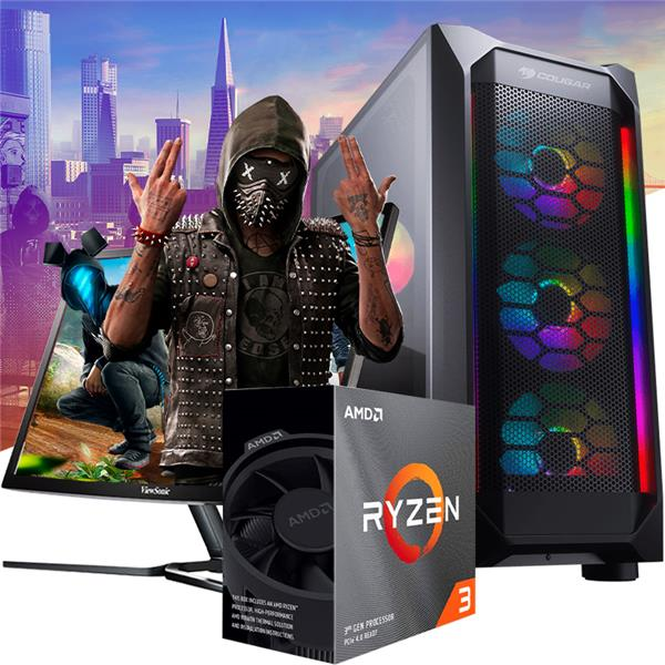 PC GAMER ARMADA AMD RYZEN 3 3100 - A320 - 8GB - 480GB SSD - GTX 1650
